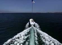 Barca di Parasailing. Immagini Stock Libere da Diritti