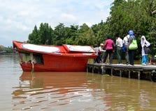 Barca di passeggero del villaggio Fotografia Stock Libera da Diritti