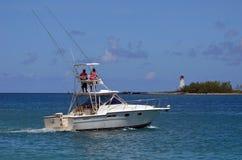 Barca di pesca sportiva della lettera Immagine Stock Libera da Diritti