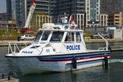 Barca di polizia Immagine Stock Libera da Diritti