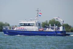 Barca di polizia olandese P87 - DAMEN Stan Patrol 2505 - nautico Immagini Stock