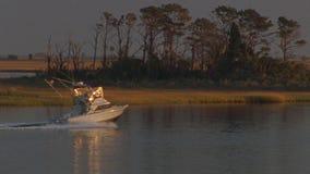 Barca di potenziale di pesca archivi video