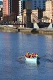 Barca di rematura sul fiume Clyde Immagini Stock