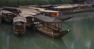 Barca di riga di legno Fotografie Stock