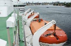 Barca di risparmio di Viking Line del traghetto 20 giugno 2018, Stoccolma, Svezia immagine stock libera da diritti
