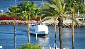 Barca di ritorno Fotografie Stock