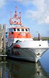 Barca di SAR sulla porta. Mare del Nord. Fotografia Stock Libera da Diritti