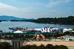 Barca di Smith Mountain Lake Antique Classic e festival 2016 immagini stock libere da diritti