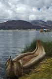 Barca di Titicaca Immagini Stock