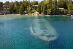 Barca di Tobermory sotto acqua Fotografie Stock Libere da Diritti