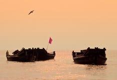 Barca di tramonto Fotografia Stock Libera da Diritti