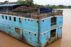Barca di trasporto - Iquitos Perù immagini stock