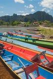 Barca di Vang Vieng Fotografia Stock