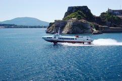 Barca di velocità Immagine Stock