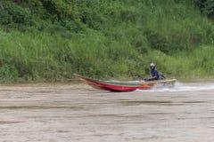 Barca di velocità al Mekong fotografia stock libera da diritti