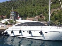 Barca di velocità di mar Egeo fotografie stock