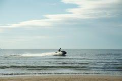Barca di velocità nel mare Fotografia Stock Libera da Diritti