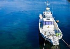 Barca di velocità su porto Fotografia Stock