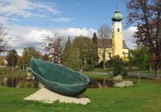 Barca di vetro - arca in Frauenau in Bayerischer Wald Immagine Stock Libera da Diritti