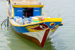 Barca dipinta sul fiume Immagine Stock Libera da Diritti