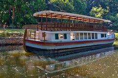 Barca do canal na via navegável histórica do canal de C&O Foto de Stock