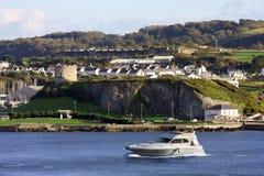Barca in dockside, Plymouth immagini stock libere da diritti