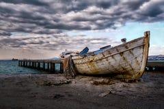 Barca, dopo la pioggia Immagine Stock