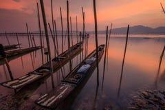Barca due in acqua Immagini Stock