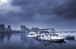 Barca e bacino Fotografia Stock