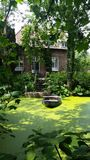 Barca e casa nei Paesi Bassi Immagini Stock