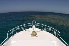 Barca e horisont Fotografia Stock Libera da Diritti