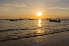 Barca e luce solare Fotografie Stock Libere da Diritti