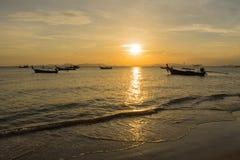 Barca e luce solare Fotografia Stock Libera da Diritti