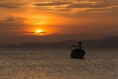 Barca e luce solare Immagini Stock