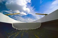 Barca e pale Immagine Stock