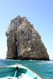 Barca e rocce fotografia stock