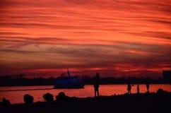 Barca e rosso immagine stock libera da diritti