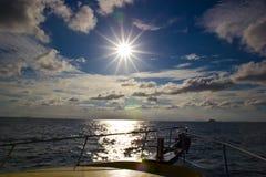 Barca e sole Fotografia Stock Libera da Diritti