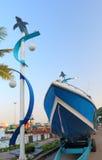 Barca e traghetto di velocità Immagini Stock