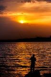 Barca e tramonto in Ä°stanbul Fotografia Stock