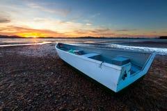 Barca e tramonto Immagine Stock Libera da Diritti