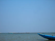 Barca ed acqua Fotografia Stock
