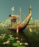 Barca egípcia Fotografia de Stock Royalty Free