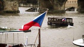Barca en Praga almacen de video