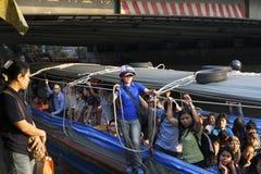 Barca espressa lungo Khlong Saen Saeb Immagine Stock Libera da Diritti