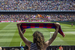 Barca fan Royalty Free Stock Photos