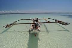 Barca fatta a mano fotografie stock