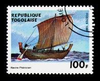 Barca fenicia, serie delle navi di navigazione, circa 1999 Fotografie Stock