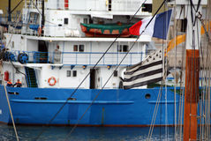 Barca in Francia Fotografia Stock