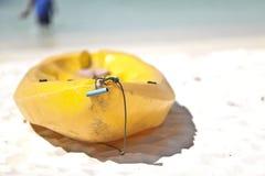 Barca gialla Fotografie Stock